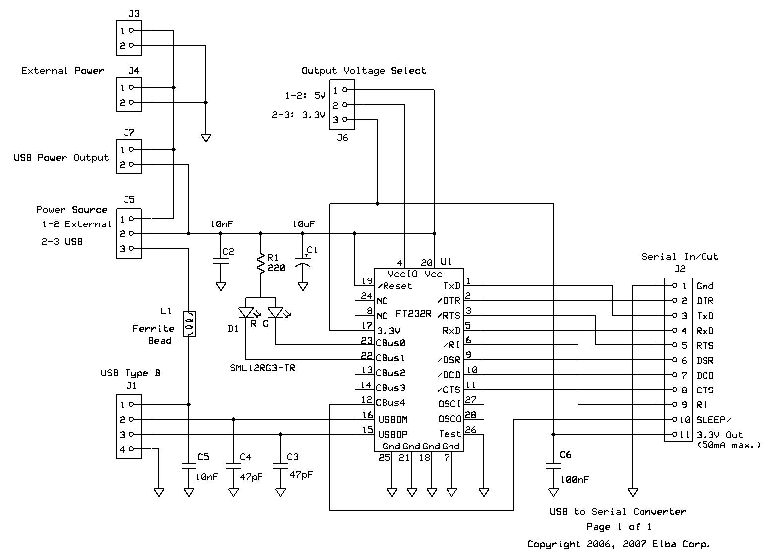 schematic usb ttl interface module reference manual usb type b wiring diagram at bakdesigns.co